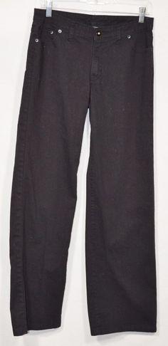 "NORMA KAMALI Black Cotton Pants 6 Jeans Style 5 Pockets Inseam 30"" Versatile #NormaKamali #CasualPants"