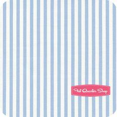 Nursery Fabric: Fatquartershop.com - Jubilee by Bunny Hills Designs for Moda Fabrics - Blue Stripe SKU# 2848-19 $10.75