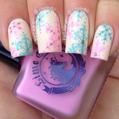 snowflakes by chelsgc #nail #nails #nailart