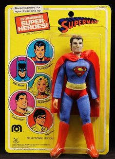 1978 Superman (World's Greatest Super Heroes) cloth emblem version 8 inch action figure by Mego