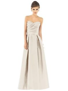 champagne bridesmaids dress--long/sweetheart, color needs to be darker tho