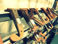 Large rusty metal letters from Vendor 165. Priced at $12.00 each. ~ The Brass Armadillo Antique Mall in Denver, CO ~