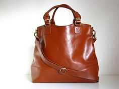 classic leather tote handbag by the leather store | notonthehighstreet.com