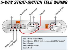 Tele Wiring Diagram with 4 way switch Telecaster Build