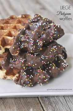 Liege Belgium Waffles - your homebased mom #recipe #waffle #chocolate