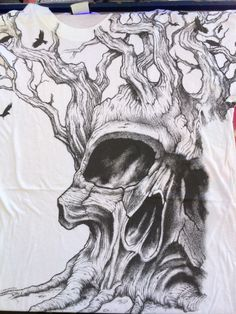 Tree of life possibility? Tree of life possibility? Tree Tattoo Designs, Tattoo Design Drawings, Skull Tattoo Design, Tattoo Sleeve Designs, Cool Drawings, Sleeve Tattoos, Evil Skull Tattoo, Skull Tattoos, Fox Tattoos
