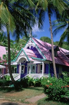 Caribbean, Grenadines, Mustique, boutique, Brittania Bay, gingerbread architecture