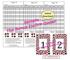 Euchre Rotation Charts  PeopleNewPdf  Party Ideas