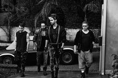 Tokio Hotel Bill Kaulitz Georg Listing Tom Kaulitz Gustav Schäfer Kings of Suburbia Photo Shoot 2014