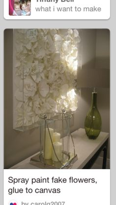 Flower art - perfect for my white room!