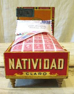 Cigar Box Doll Bed — Just Something I Made