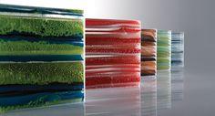 Ribbon glass for walls