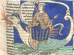 L'Antéchrist assis sur le Léviathan (f°65bis r) -- «Liber Floridus», Lambertus de Sancto Audomaro (Lambert de Saint-Omer), nord de la France, fin XIIIe s. [BNF Ms Latin 8865 - ark:/12148/btv1b6000541b]