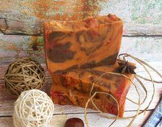 Купить Натуральное мыло Яблочная шарлотка - рыжий, мыло, мыло ручной работы…