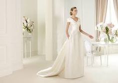 Image result for simple a-line wedding dresses with sleeves