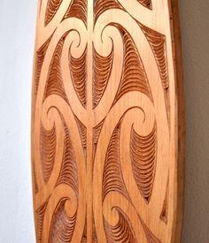 Matt Smiler Kura Gallery Maori Art Design Aotearoa New Zealand Carving Matai Hoe Paddle 8