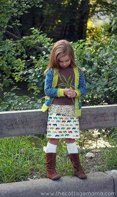 Sydney Skirt: Free Pattern and Tutorial - The Cottage Mama