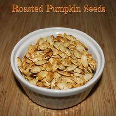 Roasted Pumpkin Seeds - Sometimes Homemade