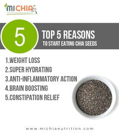 Chia Nutrition, Constipation Relief, Chia Seeds, Weight Loss, Healthy Recipes, Diet, Lungs, Heart, Top