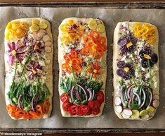 How To Easily Make Your Own Breathtaking Floral Focaccia Bread Comida Pizza, Bread Art, Rye Bread, Yeast Bread, Focaccia Bread Recipe, Bread Food, Bread Baking, Good Food, Yummy Food
