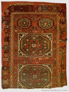 bergama rug of the holbein type 16s.