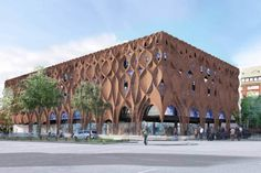 Parametric brick facade - by Knippers Helbig