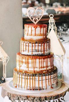 42 Yummy And Trendy Drip Wedding Cakes ❤ drip wedding cakes drip caramel on cake baked blessings #weddingforward #wedding #bride