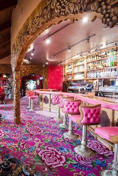 Hotel #decor: Silver bar at the Madonna Inn, California