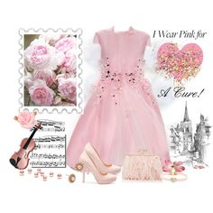 """""""I Wear Pink for A Cure!"""" by skpg on Polyvore"""