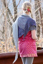 An elongated, asymmetrical wrap that combines the warmth and style of a shawl with the wearability of a scarf, Sundry means various or diverse, and this wrap features two colors, two stitch patterns and endless styling options. Cast on at the long, pointed end, Sundry has shaping at each end of rows that grow ever wider. Two colors contrast yet harmonize in solid garter stitch and houndstooth slipstitch sections; the slipstitch is easily worked using just one color per row. A simple picot…