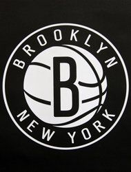 One of the new Brooklyn Nets logos is displayed during a news conference in  the Brooklyn borough of New York ec1fb1ea4