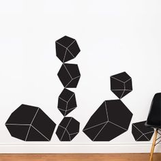 Crystals wall sticker $69