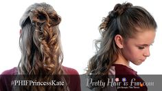 Pretty Hair is Fun: Princess Kate Inspired Half Up Hairstyle (and Lilla Rose Giveaway!) wedding hair; hair; hairstyles; hair half up; homecoming; prom; curled hair
