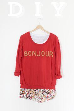 (via DIY: Bonjour Sweater | CLAD&CLOTH)