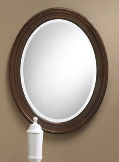 953 Oval Mirror Features A Solid Maple Frame With Finish Hand Rubbed Glaze