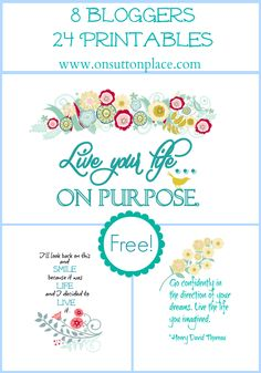 8 bloggers with 3 free printables each on the first Monday of the month. Join the fun!