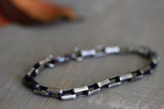 Mens Sterling Silver Chain Bracelet