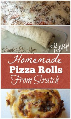 Homemade Pizza Rolls are a big hit in my family; easy meal that kids will love. Make ahead for a freezer meal, weeknight favorite, lunch, or school lunch.