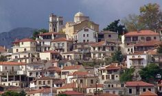 Gravia village, Fokida Prefecture, central Greece, Birthplace of Odysseas Androutsos, hero of the Greek revolution 1821 against the Ottomans Beautiful Islands, Beautiful Beaches, Chios, Modern City, Paris Skyline, Greece, Mansions, House Styles, Places