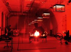 Set and light design: Klaus Grünberg, Max Black (Heiner Goebbels), André Wilms, Théâtre de Vidy, Lausanne 1998