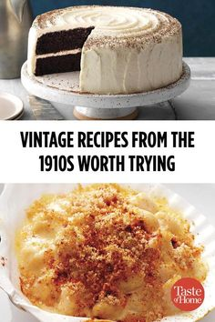 Vintage Recipes from the Worth Trying Today The featured Babe Ruth's Major League debut and some delicious recipes. Get a taste of America's pastime with these vintage recipes. Retro Recipes, Top Recipes, Healthy Recipes, Cookbook Recipes, Baking Recipes, Dessert Recipes, 1950s Recipes, Cake Recipes, Recipies
