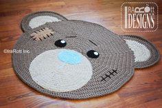 alfombra de crochet de osito
