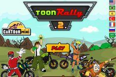 En este juego encontraras a varios personajes Cartoon donde competirán quien es el mejor en esta carrera de Motos, selecciona a tu favorito, como Ben 10, Naruto entre otros, lo difícil es conducir la moto por el camino tan curvo.