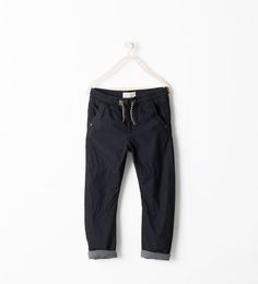 Image 1 of BASIC LACE-UP TROUSERS from Zara