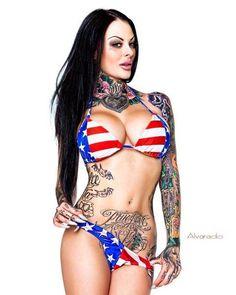 We love America. #inked #inkedgirls #model #sexy #merica #america #tattooed