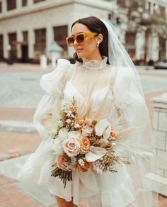 """100 Layer Cake on Instagram: """"The future's so bright, I gotta wear shades ⚡️Swipe for some seriously cool wedding sunnies and let us know - would you rock a pair of…"""" Wedding After Party, Wedding Party Dresses, Bridal Dresses, Civil Wedding Dresses, Wedding Attire, Bridal Gown, Country Beach Weddings, A Line Shorts, Party Looks"""