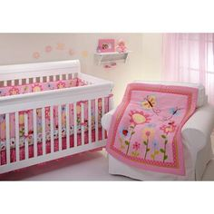 Little Bedding by NoJo Little Miss Ladybug Crib Bumper - Walmart.com