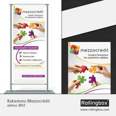 Réalisation d'un #kakemono pour MezzoCredit, société spécialisée dans le microcrédit professionnel et l'entrepreneuriat social.   Plus d'informations sur : http://mezzocredit.fr/  #graphisme #rollingbox
