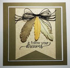 Follow your dreams onto Selma Stevenson's blog for this beautiful card featuring Joset's Feathers, Dream Sentiments Clear Stamps, and Els's Stitched Fishtails. http://selmasstampingcorner.blogspot.ca/2017/01/follow-your-dreams-feathers.html