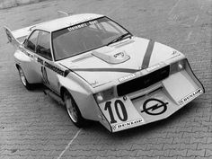 """The Opel Commodore """"Jumbo"""" with a 6 liter Chevy engine by tuner Steinmetz – although it was not succesful at all, this extreme car has quite a few fans in Germany. Carrera Toys even produced it as a slotcar some years ago."""